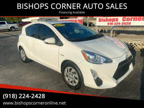 2016 Toyota Prius c for sale at BISHOPS CORNER AUTO SALES in Sapulpa OK