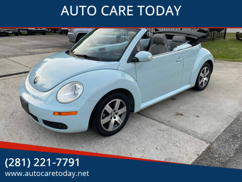 2006 Volkswagen New Beetle Convertible for sale at AUTO CARE TODAY in Spring TX
