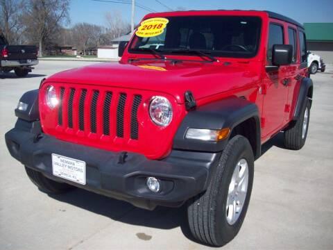 2018 Jeep Wrangler Unlimited for sale at Nemaha Valley Motors in Seneca KS