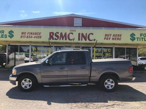 2002 Ford F-150 for sale at Ron Self Motor Company in Fort Worth TX