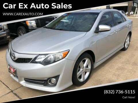 2012 Toyota Camry for sale at Car Ex Auto Sales in Houston TX