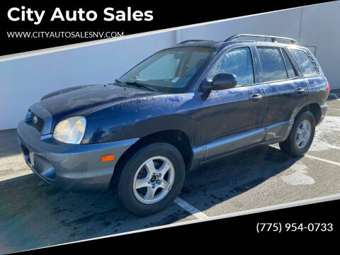 2004 Hyundai Santa Fe for sale at City Auto Sales in Sparks NV