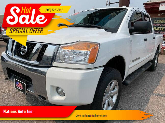 2014 Nissan Titan for sale at Nations Auto Inc. in Denver CO