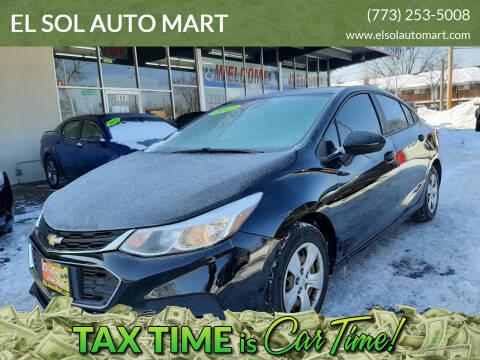 2017 Chevrolet Cruze for sale at EL SOL AUTO MART in Franklin Park IL