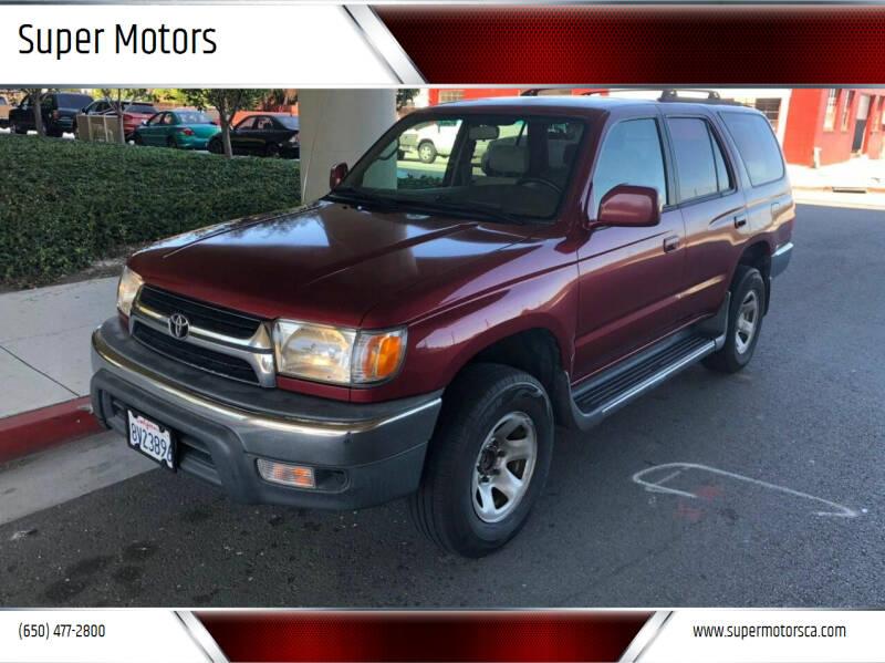 2001 Toyota 4Runner for sale at Super Motors in San Mateo CA