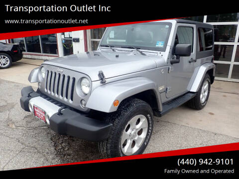 2015 Jeep Wrangler for sale at Transportation Outlet Inc in Eastlake OH
