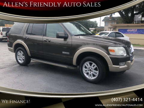 2008 Ford Explorer for sale at Allen's Friendly Auto Sales in Sanford FL
