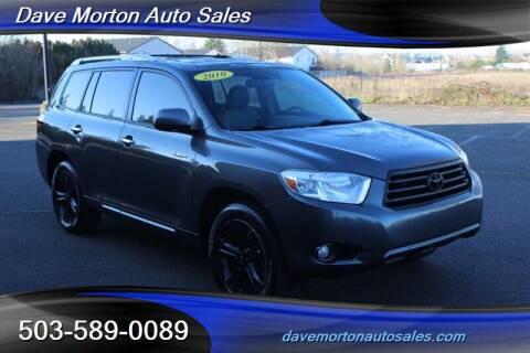 2010 Toyota Highlander for sale at Dave Morton Auto Sales in Salem OR