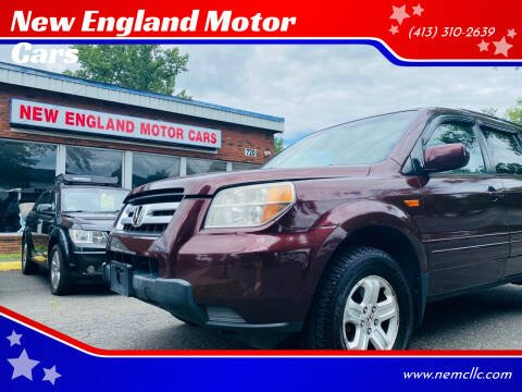 2008 Honda Pilot for sale at New England Motor Cars in Springfield MA