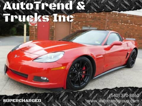 2005 Chevrolet Corvette for sale at AutoTrend & Trucks Inc in Fredericksburg VA