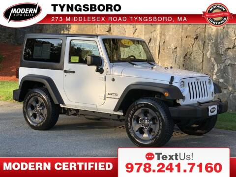 2017 Jeep Wrangler for sale at Modern Auto Sales in Tyngsboro MA