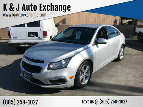 2016 Chevrolet Cruze Limited for sale at K & J Auto Exchange in Santa Paula CA