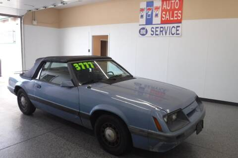 1986 Ford Mustang for sale at 777 Auto Sales and Service in Tacoma WA