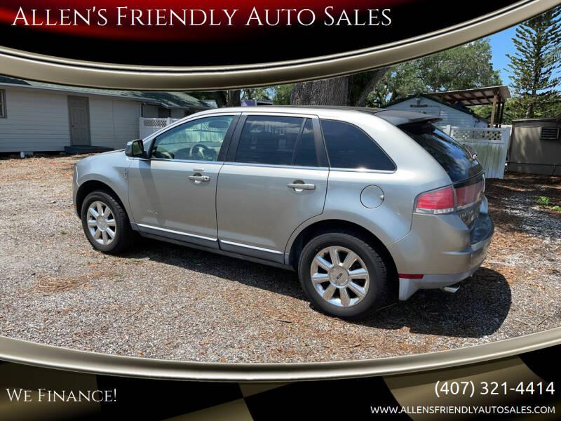 2008 Lincoln MKX for sale at Allen's Friendly Auto Sales in Sanford FL
