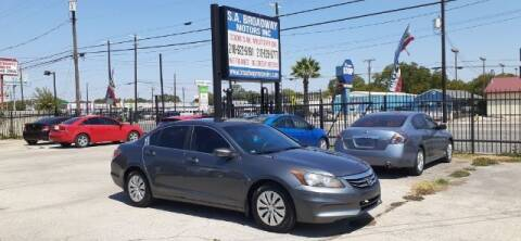 2012 Honda Accord for sale at S.A. BROADWAY MOTORS INC in San Antonio TX