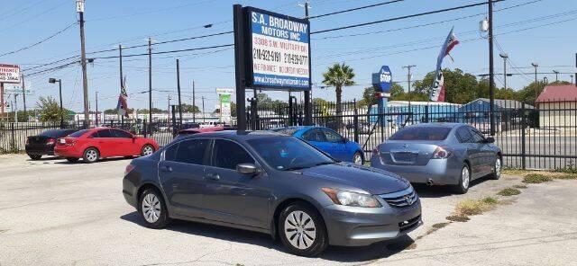 2012 Honda Accord for sale at S.A. BROADWAY MOTORS INC in San Antonio TX