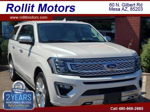 2018 Ford Expedition MAX for sale at Rollit Motors in Mesa AZ