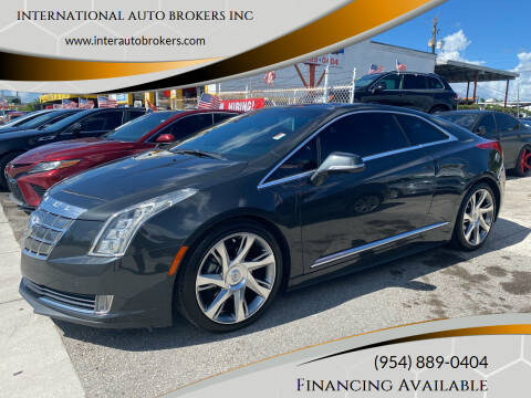 2014 Cadillac ELR for sale at INTERNATIONAL AUTO BROKERS INC in Hollywood FL