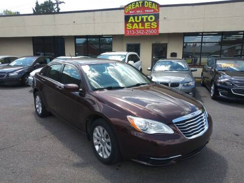 2013 Chrysler 200 for sale at GREAT DEAL AUTO SALES in Center Line MI