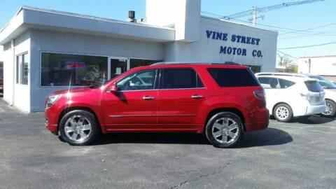 2013 GMC Acadia for sale at VINE STREET MOTOR CO in Urbana IL