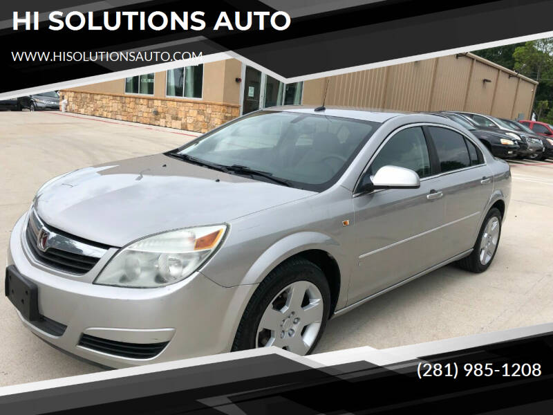 2007 Saturn Aura for sale at HI SOLUTIONS AUTO in Houston TX