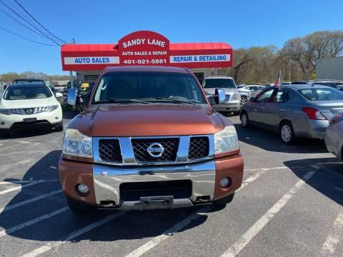 2004 Nissan Titan for sale at Sandy Lane Auto Sales and Repair in Warwick RI