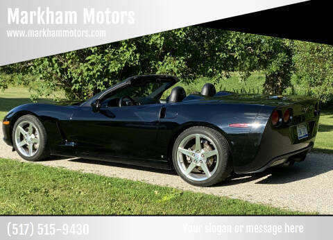 2006 Chevrolet Corvette for sale at Markham Motors in Perry MI