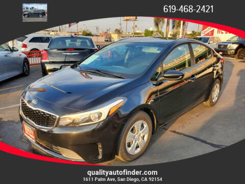 2017 Kia Forte for sale at QUALITY AUTO FINDER in San Diego CA