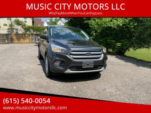 2017 Ford Escape for sale at MUSIC CITY MOTORS LLC in Nashville TN
