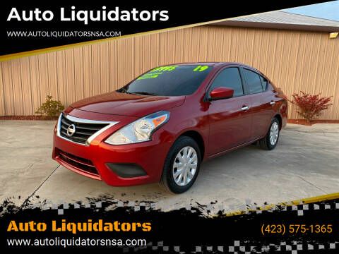 2019 Nissan Versa for sale at Auto Liquidators in Bluff City TN