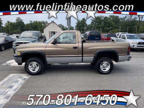 2000 Dodge Ram Pickup 1500 for sale at FUELIN FINE AUTO SALES INC in Saylorsburg PA
