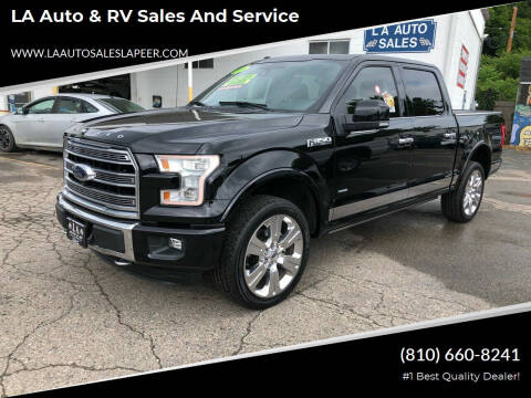 2016 Ford F-150 for sale at LA Auto & RV Sales and Service in Lapeer MI