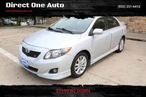 2010 Toyota Corolla for sale at Direct One Auto in Houston TX