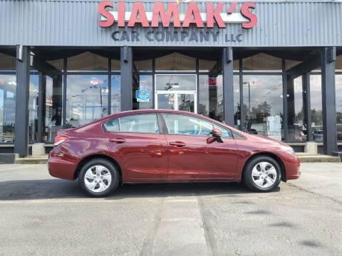 2015 Honda Civic for sale at Siamak's Car Company llc in Salem OR