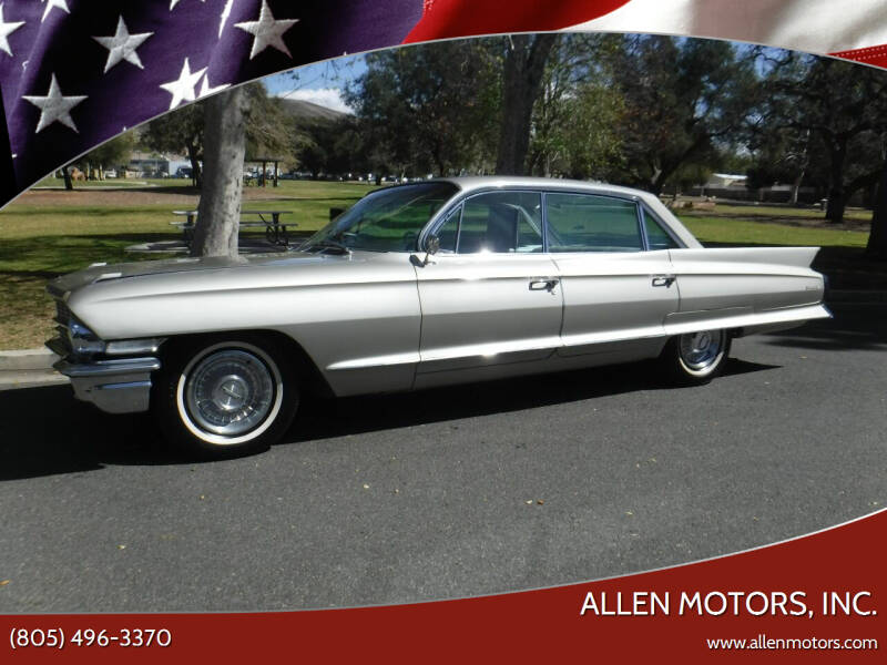 1962 Cadillac DeVille for sale at Allen Motors, Inc. in Thousand Oaks CA