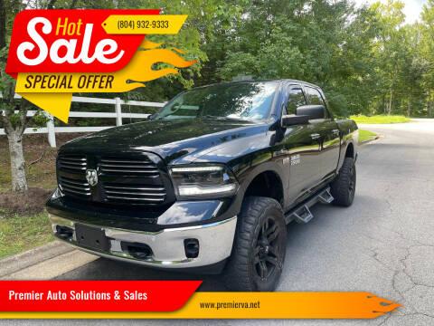 2014 RAM Ram Pickup 1500 for sale at Premier Auto Solutions & Sales in Quinton VA