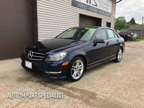 2014 Mercedes-Benz C-Class for sale at Auto Import Specialist LLC in South Bend IN