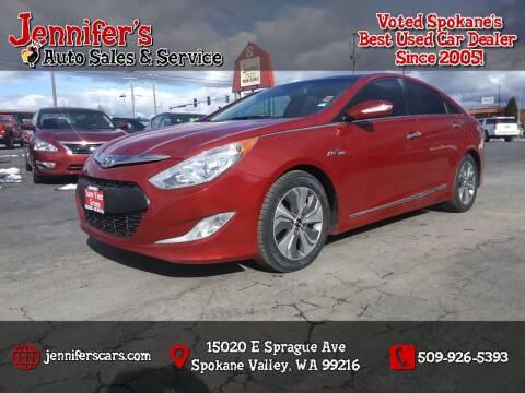 2015 Hyundai Sonata Hybrid for sale at Jennifer's Auto Sales in Spokane Valley WA