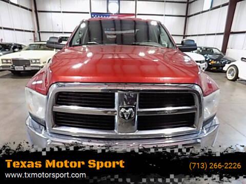 2010 Dodge Ram Pickup 2500 for sale at Texas Motor Sport in Houston TX