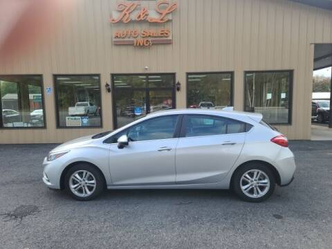 2017 Chevrolet Cruze for sale at K & L AUTO SALES, INC in Mill Hall PA