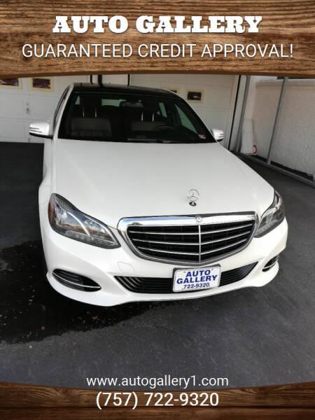 2014 Mercedes-Benz E-Class for sale at Auto Gallery in Hampton VA