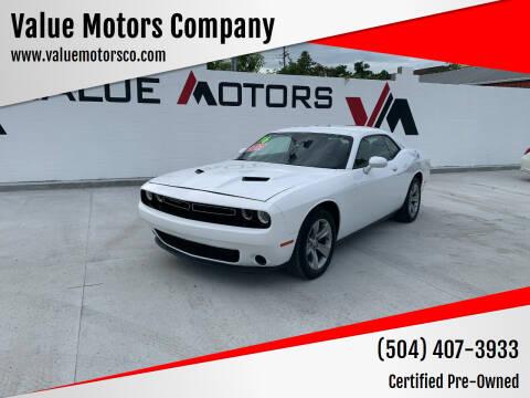 2016 Dodge Challenger for sale at Value Motors Company in Marrero LA
