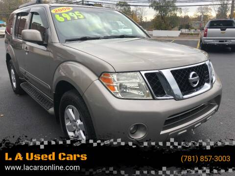 2009 Nissan Pathfinder for sale at L A Used Cars in Abington MA