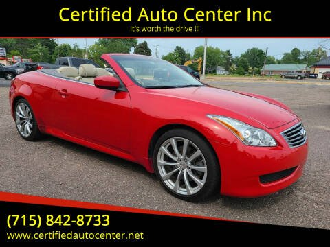 2010 Infiniti G37 Convertible for sale at Certified Auto Center Inc in Wausau WI