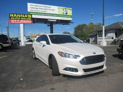 2014 Ford Fusion for sale at Hanna's Auto Sales in Indianapolis IN