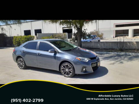 2016 Toyota Corolla for sale at Affordable Luxury Autos LLC in San Jacinto CA
