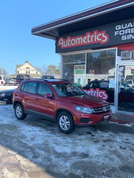 2016 Volkswagen Tiguan for sale at AUTOMETRICS in Brunswick ME