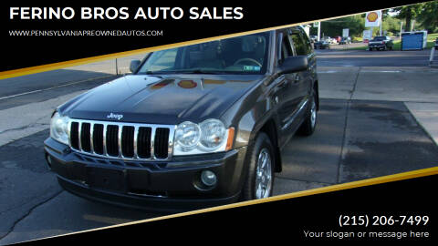 2006 Jeep Grand Cherokee for sale at FERINO BROS AUTO SALES in Wrightstown PA