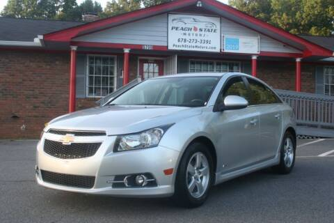 2014 Chevrolet Cruze for sale at Peach State Motors Inc in Acworth GA