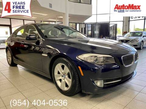 2012 BMW 5 Series for sale at Auto Max in Hollywood FL